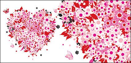 Vector festival des tlchargements gratuits celebrate holiday vector tlchar - Fleur en forme de coeur ...