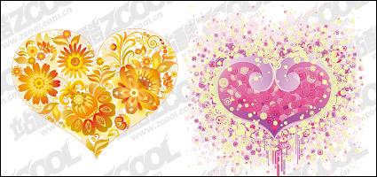 Vector design vecteur de tlchargements gratuits trend tlchargement gratuit - Fleur en forme de coeur ...
